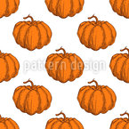 Abóboras maduras de outono Design de padrão vetorial sem costura