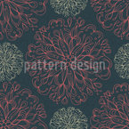 Blooming Flower Mandala Seamless Vector Pattern Design
