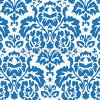 Opulent Blue Seamless Vector Pattern Design