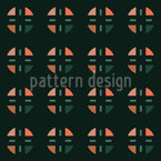 Arrangement Of Geometric Shapes Seamless Vector Pattern Design