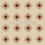 Pixelierte Batik-Punkte Nahtloses Vektormuster