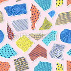 Creative Paper Composition Seamless Vector Pattern Design