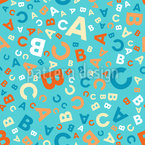 Buchstaben Mix Nahtloses Vektormuster