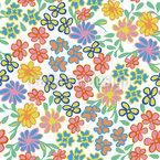 Im Land Der Blumen Nahtloses Vektormuster
