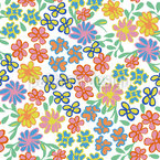 In The Land Of Flowers Seamless Vector Pattern Design