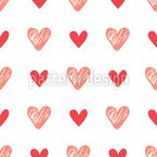 Dance Of Hearts Seamless Vector Pattern Design