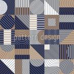 Composição Geométrica Design de padrão vetorial sem costura
