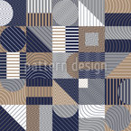 Geometrische Komposition Nahtloses Vektormuster