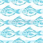 Schwimmender Fisch Nahtloses Vektormuster