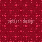 Heart Minimalism Seamless Vector Pattern Design