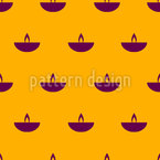 Stylized Oil Lamp Seamless Vector Pattern Design