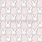 かわいいウサギの漫画 シームレスなベクトルパターン設計