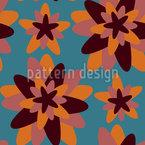 Retro Blumen-Geometrie Nahtloses Vektormuster