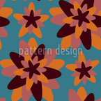 Retro Flower Geometry Seamless Vector Pattern Design