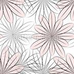 Transparente Blume Nahtloses Vektormuster
