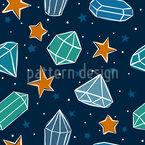 Noches estrelladas Estampado Vectorial Sin Costura