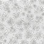 Blumen-Komposition Auf Linien Nahtloses Vektormuster
