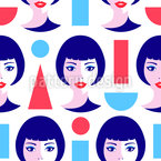 Modern Geometric Women Seamless Vector Pattern Design
