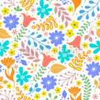 Blühende Blume Nahtloses Vektormuster