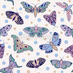Motten Und Schmetterlinge Nahtloses Vektormuster