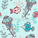 A Story Of The Ocean Seamless Vector Pattern Design