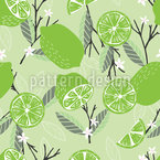Dance Of Limes Seamless Vector Pattern Design