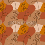 Minimalistic Rose Seamless Vector Pattern Design
