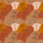 Minimalistische Rose Nahtloses Vektormuster