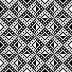 Monochrome Geometrie Nahtloses Vektormuster