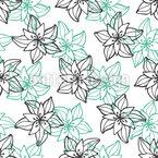 Contours de floraison Motif Vectoriel Sans Couture