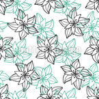 Blühende Kontur Muster Design