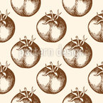Vintage Tomate Nahtloses Vektormuster