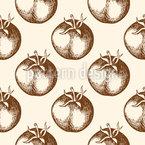 Tomate vintage Design de padrão vetorial sem costura