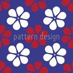 Flor clássico Design de padrão vetorial sem costura