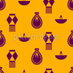 A Story Of Diwali Seamless Vector Pattern Design