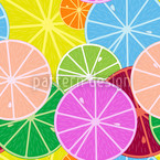 Citronella Seamless Vector Pattern Design