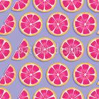 Tanz Der Grapefruits Nahtloses Vektormuster