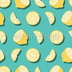 Sommerliche Zitronen Nahtloses Vektormuster