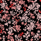 Delicate Rose Field Seamless Vector Pattern Design