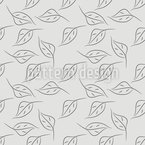 Simple Birch Leaves Seamless Vector Pattern Design