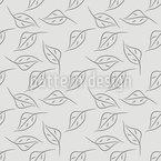 シンプルな白樺の葉 シームレスなベクトルパターン設計
