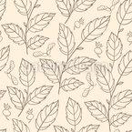 Tanz Der Herbstblätter Nahtloses Vektormuster