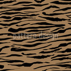 Horizontal Animal Stripes Seamless Vector Pattern Design