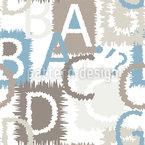 Letras com Franjas Design de padrão vetorial sem costura