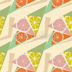 Citrus Triangles Seamless Vector Pattern Design