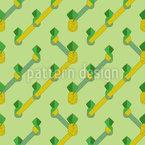 Geometric Pineapple Lines Seamless Vector Pattern Design