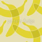 Simplicidade banana Design de padrão vetorial sem costura