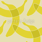 Bananen-Einfachheit Nahtloses Vektormuster