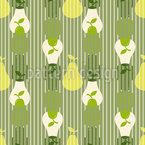 Overlapping Pear Silhouettes Seamless Vector Pattern Design