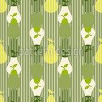 Silhuetas de pêra sobrepostas Design de padrão vetorial sem costura